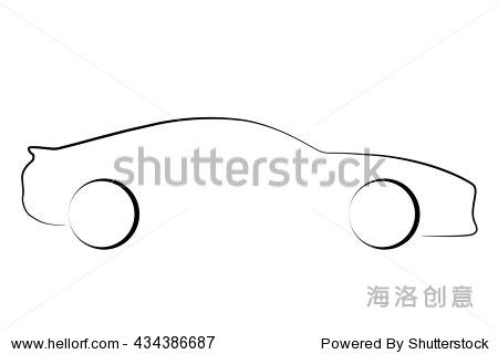 汽车线稿 矢量图