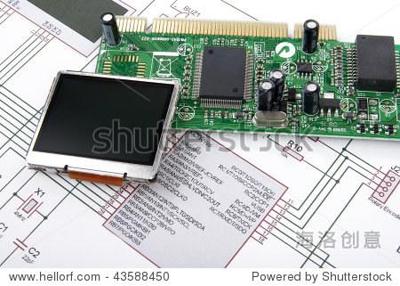 显示和电路板原理图