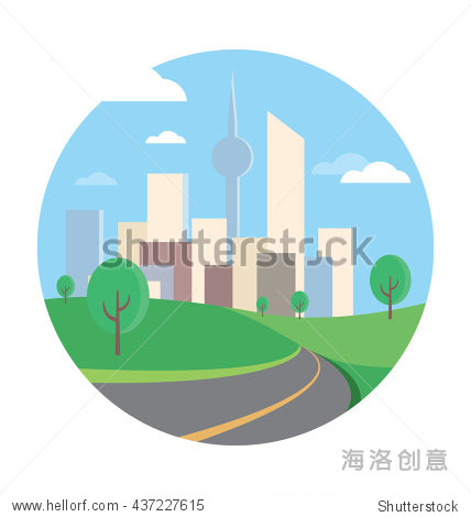 road vector icon - 建筑物/地标,符号/标志 - 站酷