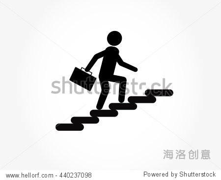 爬楼梯,走图标矢量图.还可用于活动