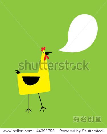 母鸡卡片问候 - 动物/野生生物,插图/剪贴图 - 站酷