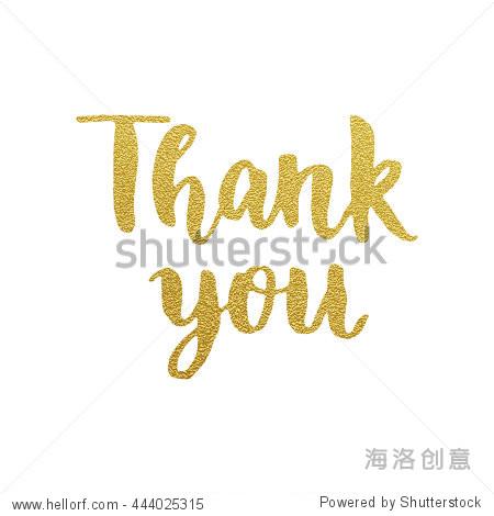 thank you gold glitter card design. vector chic text design.