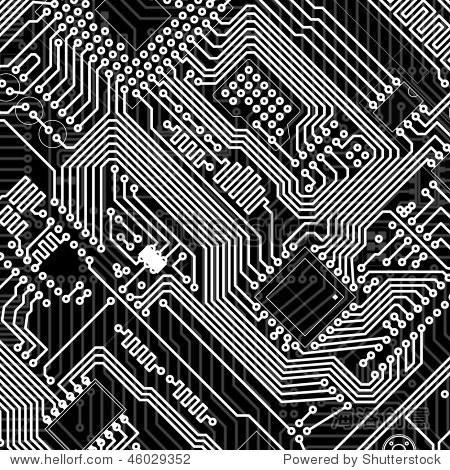 电路板工业电子单色图形背景