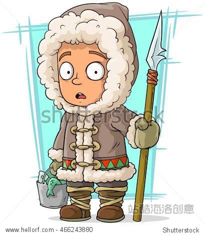 ����y��y�+]�oly�a_a vector illustration of cartoon eskimo boy with