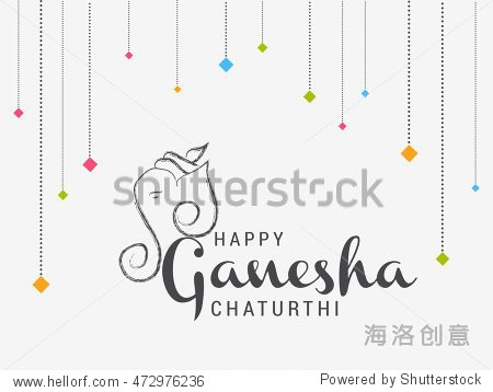 creative card,poster or banner for festival of ganesh chaturthi