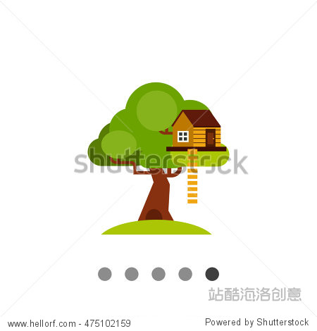 house on tree for kids icon - 建筑物/地标,符号