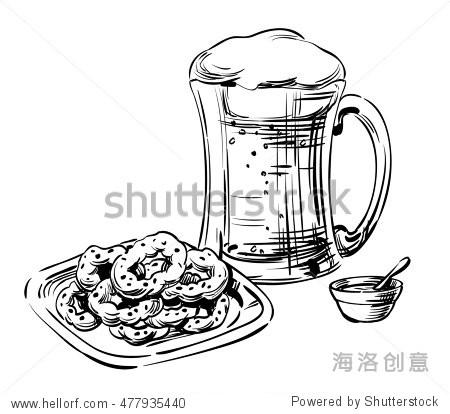 杯 杯子 简笔画 手绘 线稿 450_414
