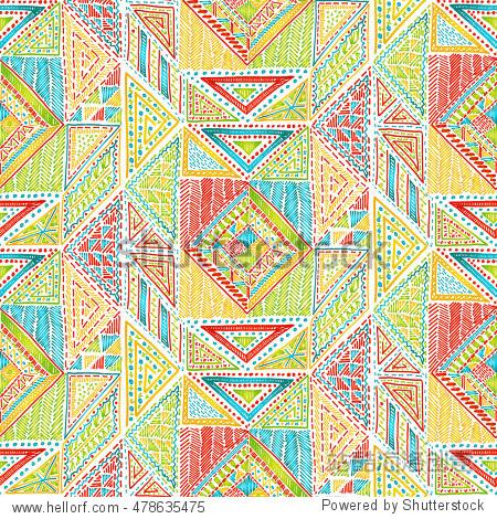 seamless geometric pattern in aztec style. tribal图片