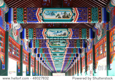 Long corridor in Summer Palace, Beijing