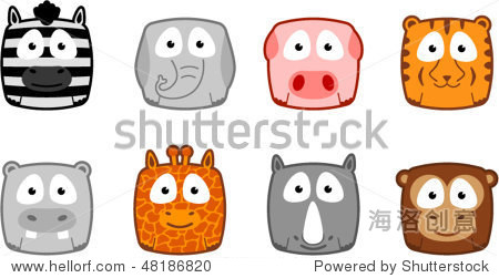 可爱的动物面孔