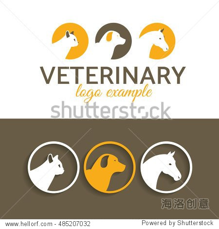 forexample图标_template for example a company logo help animals pet.