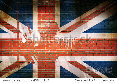 狼籍的英国国旗 - 插图/剪贴图,建筑物/地标 - 站酷
