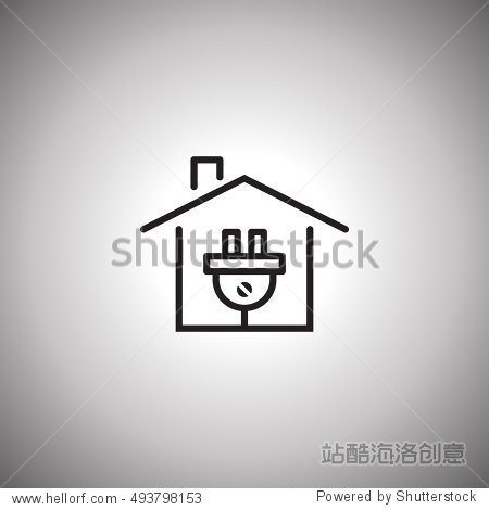 electricity concept icon. electrical plug in the