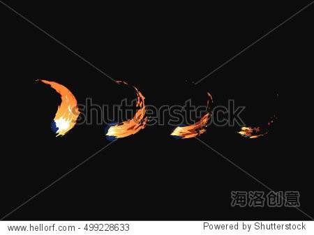 sprite sheet of fire sword attack fire punch or something else.