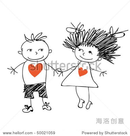 爱幼儿园小朋友涂鸦. - 人物,插图/剪贴图 - 站酷海洛