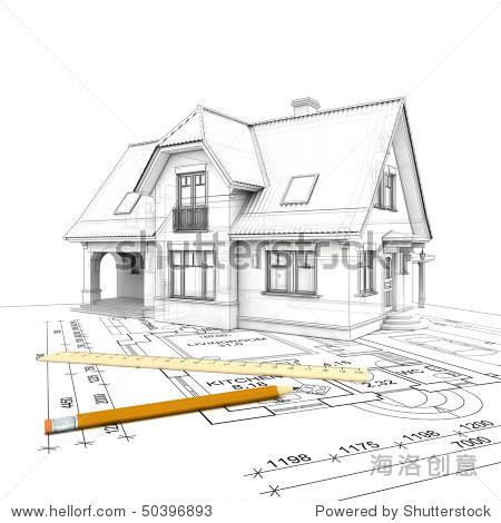 房子简笔画铅笔