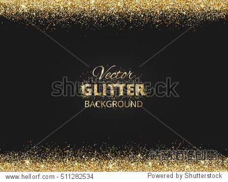 black and gold background with glitter border and