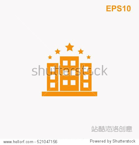 hotel five stars vector icon - 建筑物/地标 - 站酷