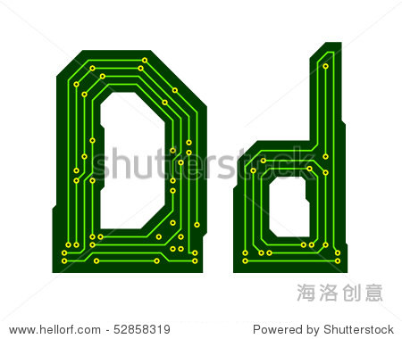 高科技电路板字母表.信维