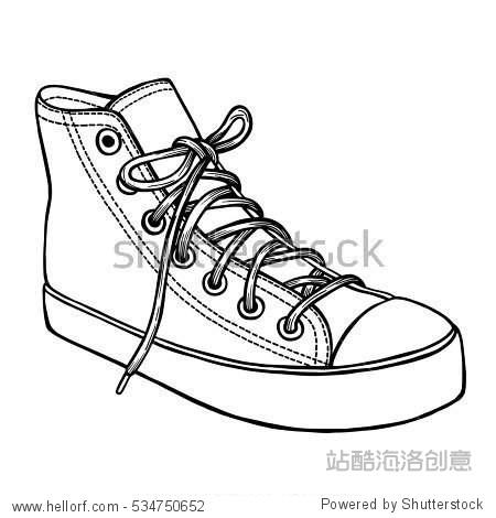 帆布鞋 简笔画 手绘 线稿 鞋 鞋子 450_470