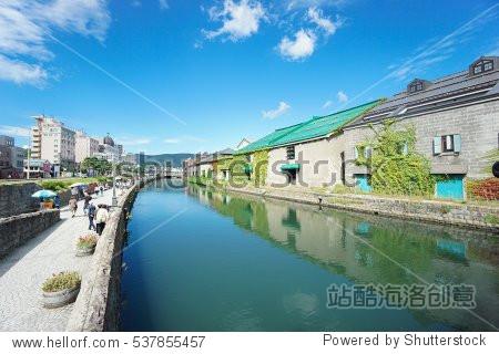 minamiotaru_otaru, japan historic canal and warehouse district.