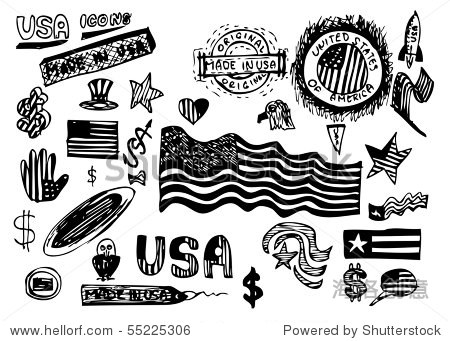 美国的手绘符号