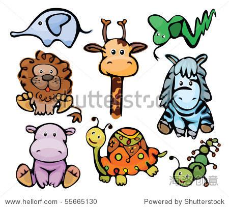 可爱的小动物 - 动物/野生生物,插图/剪贴图 - 站酷