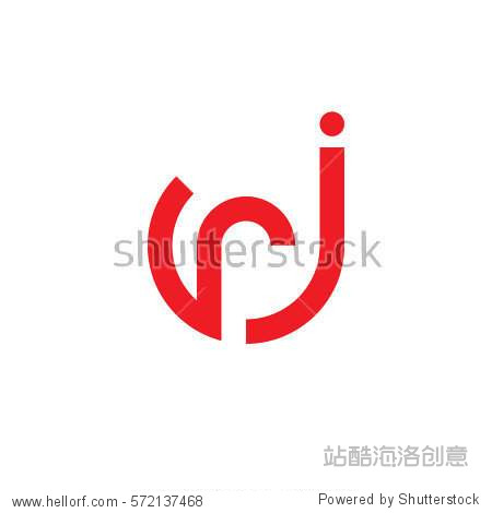 �J��R�_initial letter logo jr rj r inside j rounded lowercase red flat