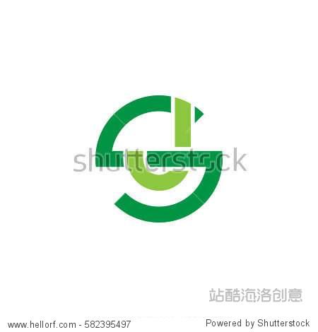 ??S?~???j?? ?_initial letter logo sj js j inside s rounded lowercase green