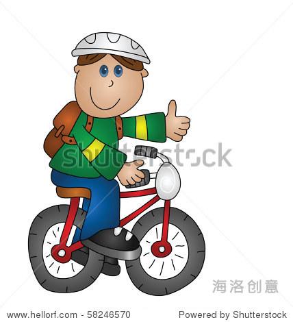 可爱的男生骑车头像
