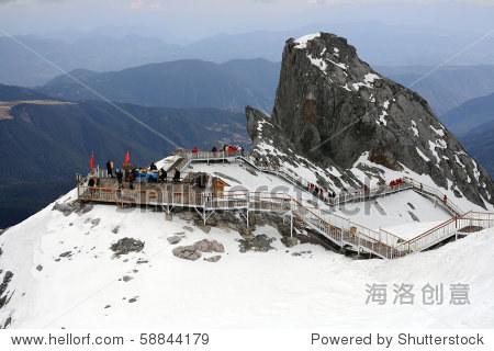 viewpoint on jade dragon snow mount, Lijiang, yunnan, southern china
