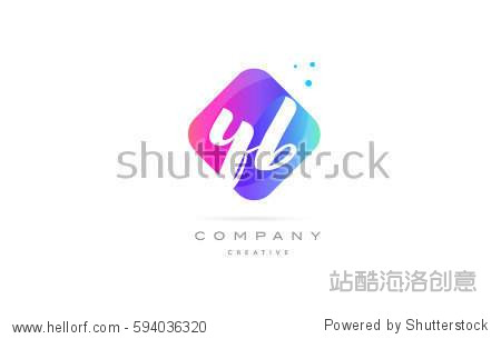 ??#k?acyb-???y??_yb y b pink blue rhombus abstract 3d alphabet company letter