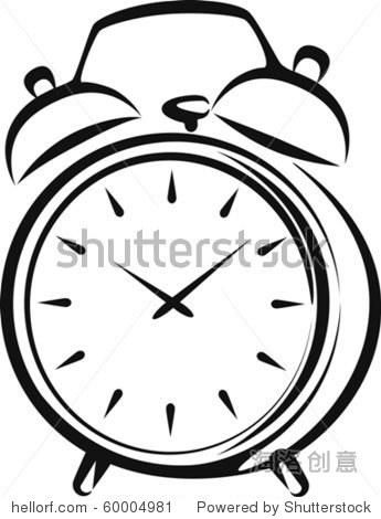 简笔画 时钟 手绘 线稿 钟表 345_470 竖版 竖屏