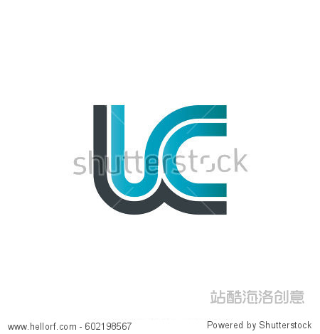 initial letter uc lc linked design logo图片