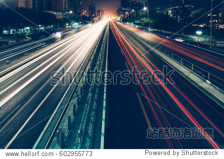 urban traffic with cityscape in Shanghai,China.