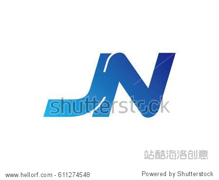 letter j and n logo initial