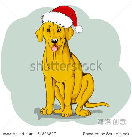 圣诞狗狗 - 动物/野生生物,插图/剪贴图 - 站酷海洛