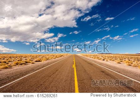 Open highway in California, USA.