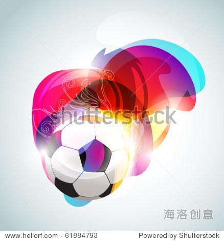 摘要足球的旗帜