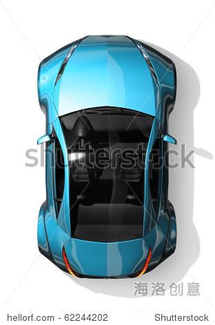跑车顶视图.原来的汽车设计.