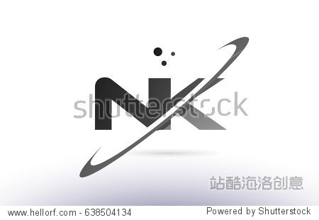 �yf�ybNK�>��N��.[��_nk n k alphabet letter logo black white grey swoosh creative