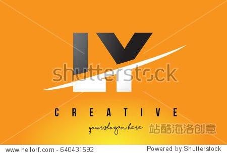日�:l�y.ly/)��-yol_ly l y letter modern logo design with swoosh cutting the middle