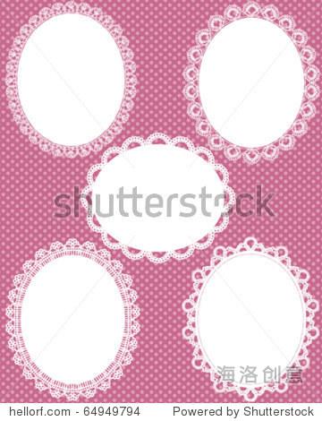椭圆形的花边点缀背景