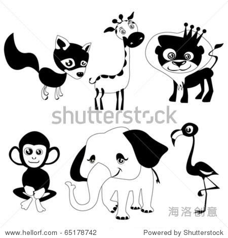可爱的动物(黑色版)-动物/野生生物