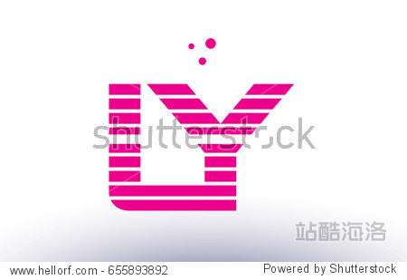 夜�9��y.b�.ly/)�l#�+_ly l y alphabet letter logo pink purple line stripe company