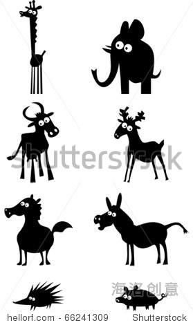 有趣的动物轮廓
