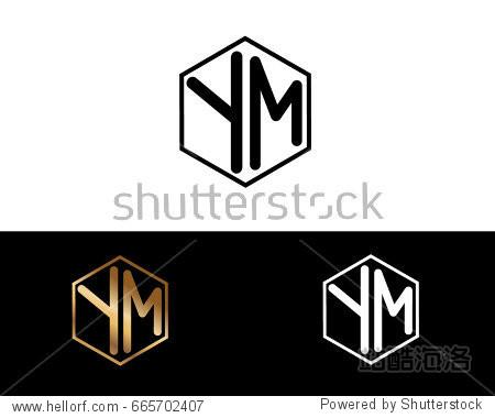 强��!#�m%:f�#�ym%9���_ym letters linked with hexagon shape logo
