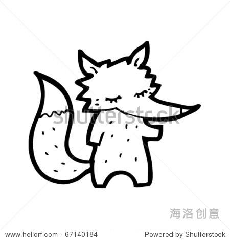 可爱的小狐狸卡通