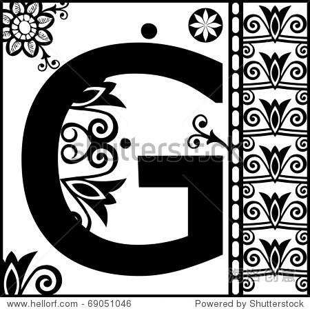 g字母设计创意图手绘