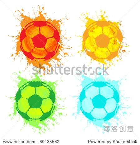 向量足球的旗帜